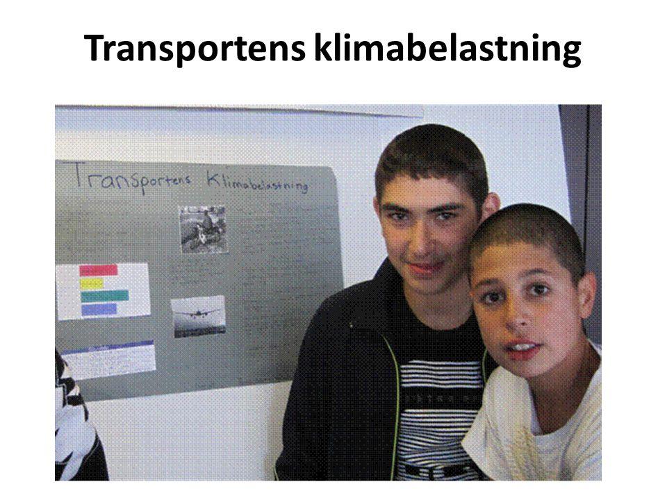 Transportens klimabelastning
