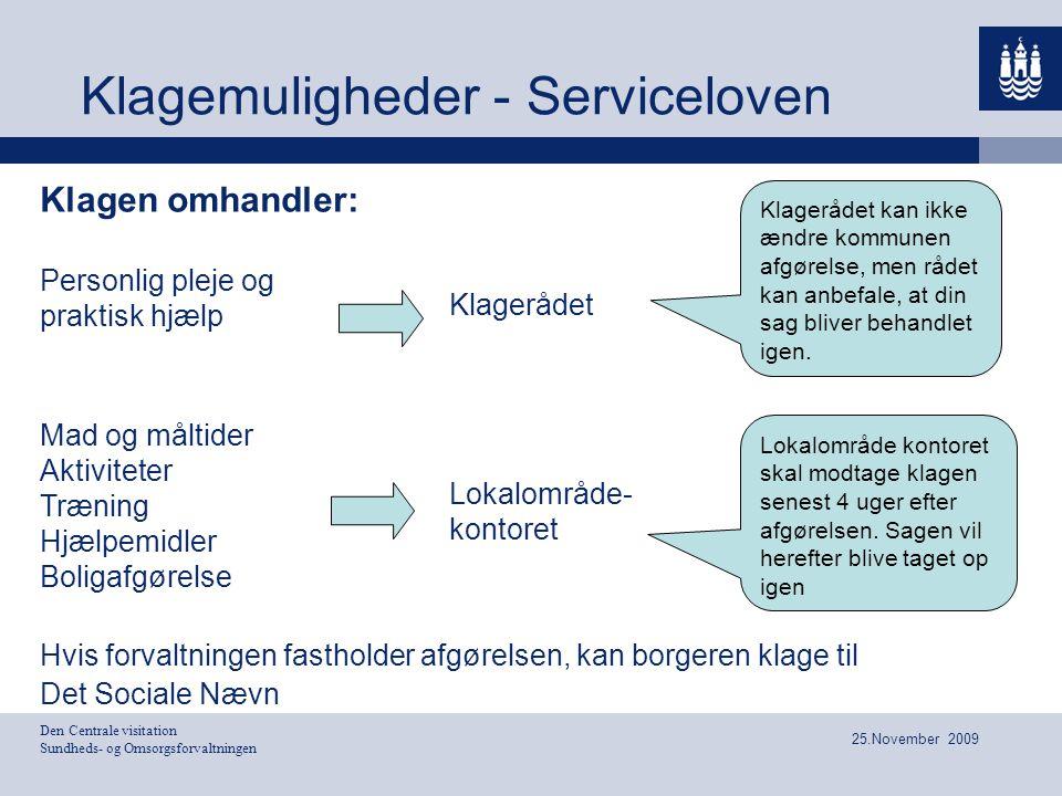 Klagemuligheder - Serviceloven