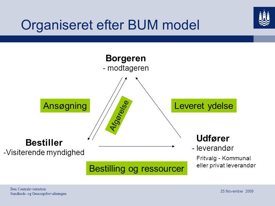 Organiseret efter BUM model