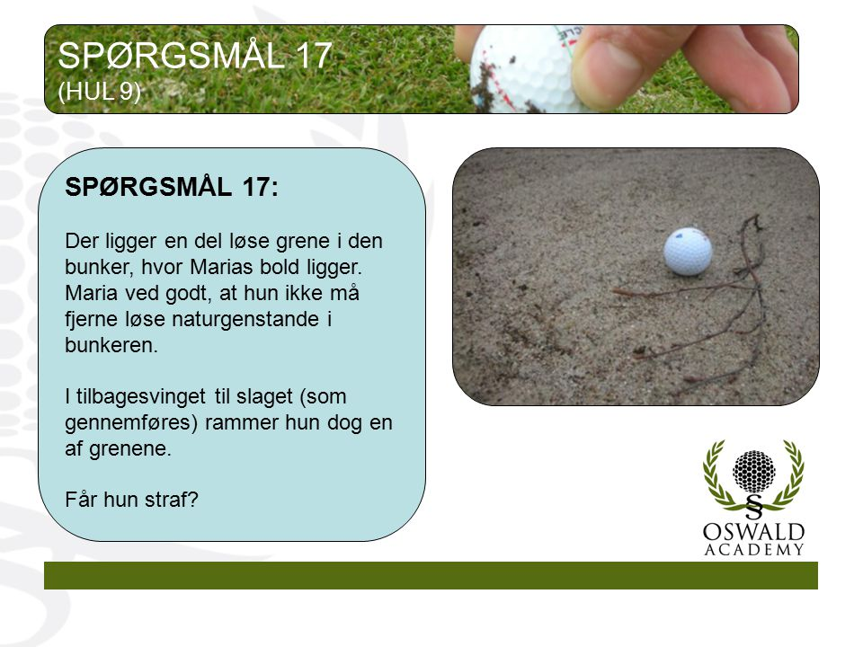 SPØRGSMÅL 17 SPØRGSMÅL 17: (HUL 9)