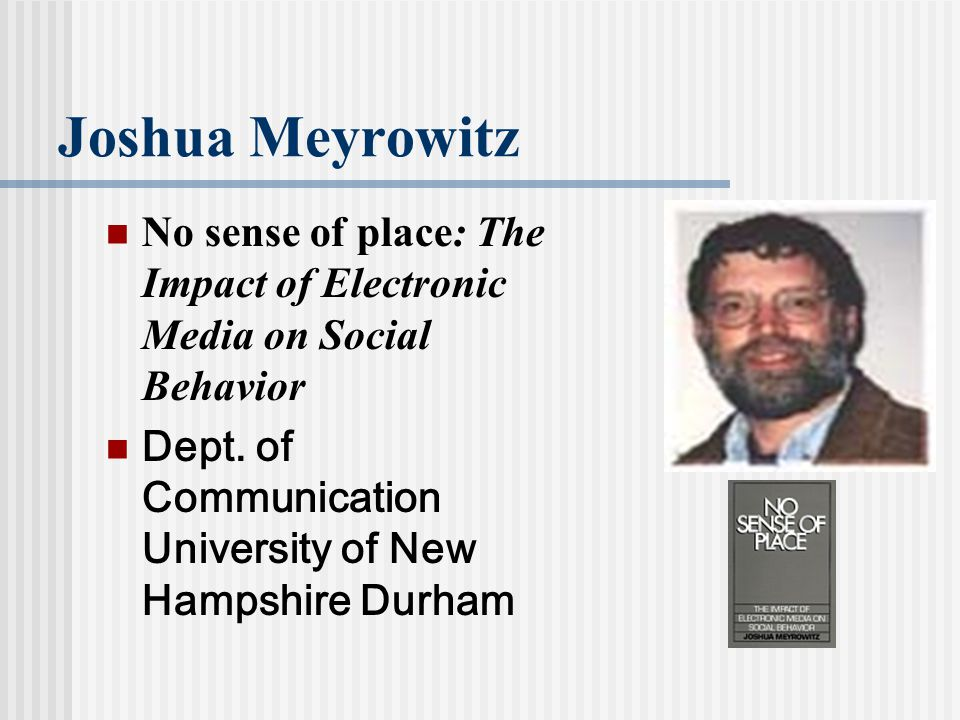 impact of electronic media Electronic media in the  therefore, understanding media and communications psychology is fundamental in understanding the social and individual effects of media .