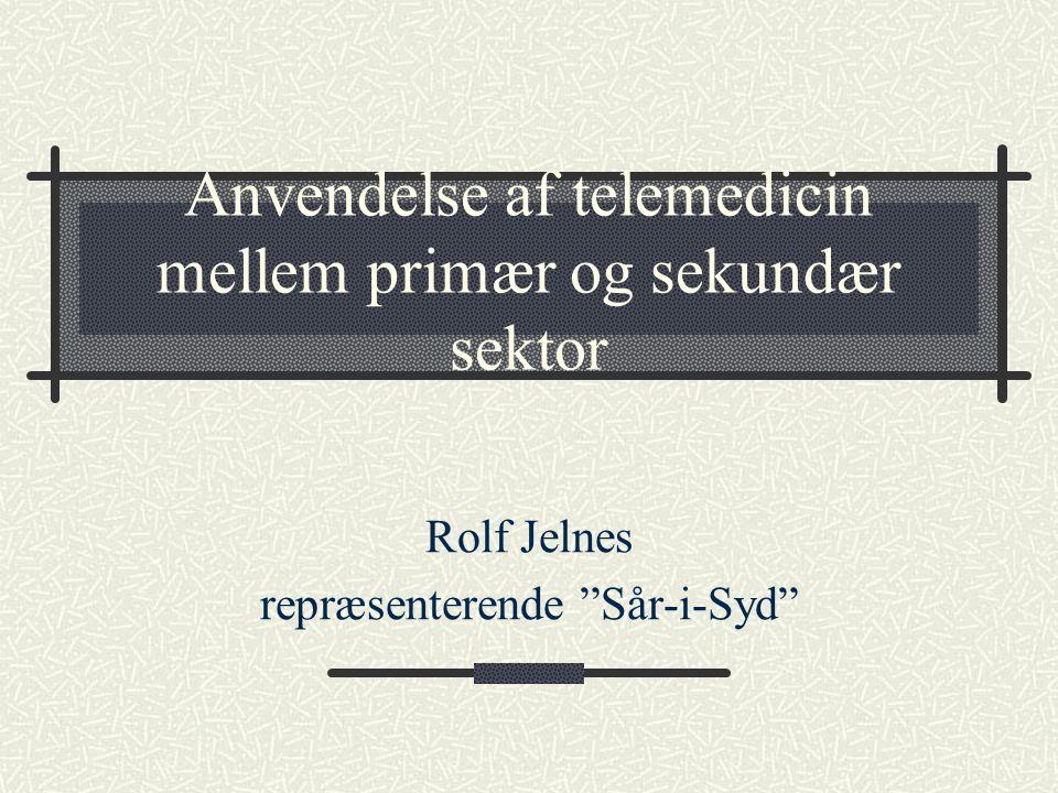 Anvendelse af telemedicin mellem primær og sekundær sektor