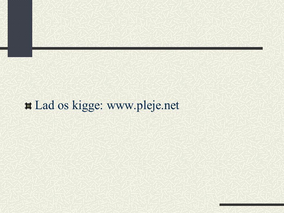 Lad os kigge: www.pleje.net