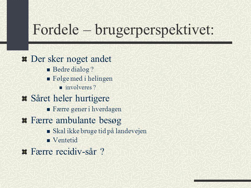 Fordele – brugerperspektivet:
