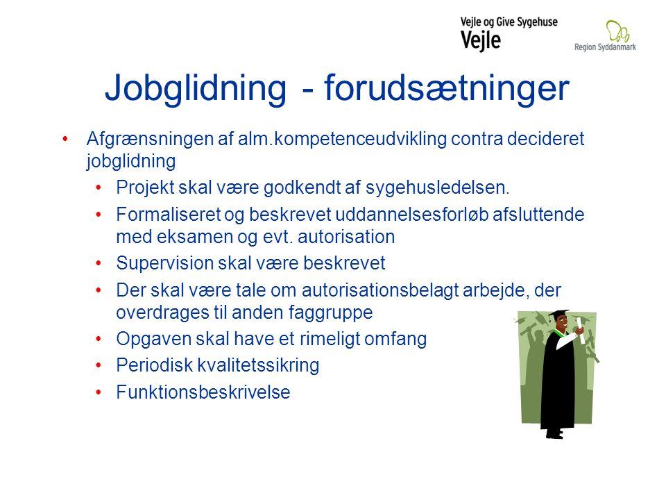 Jobglidning - forudsætninger