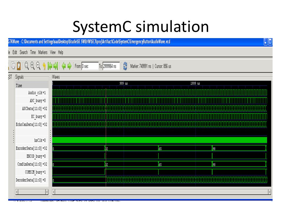 SystemC simulation