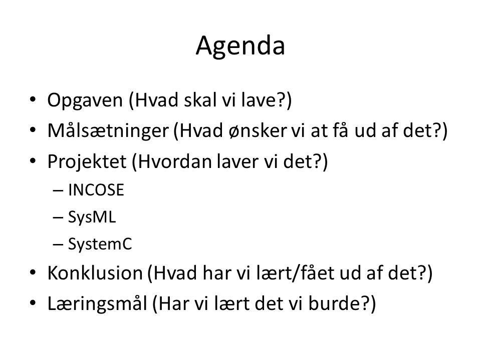 Agenda Opgaven (Hvad skal vi lave )