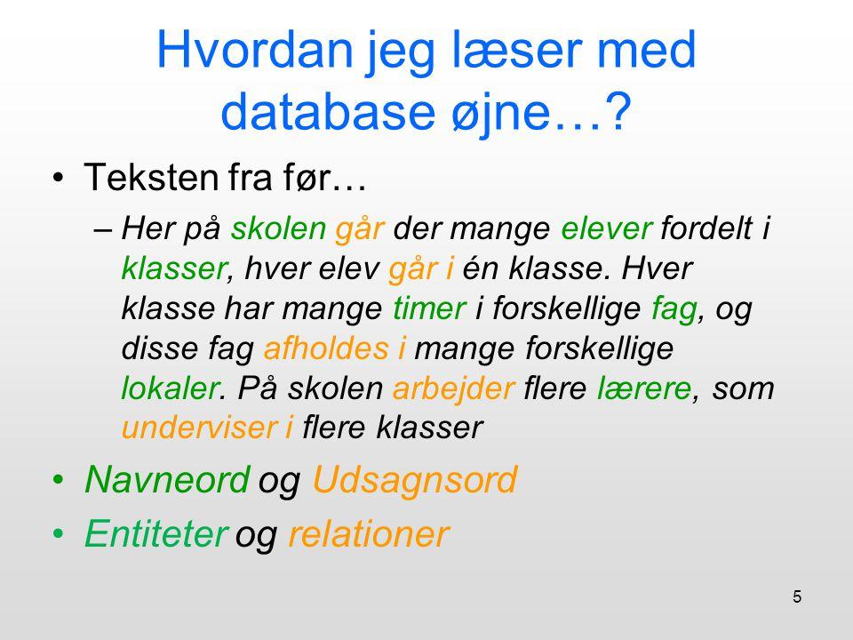 Hvordan jeg læser med database øjne…