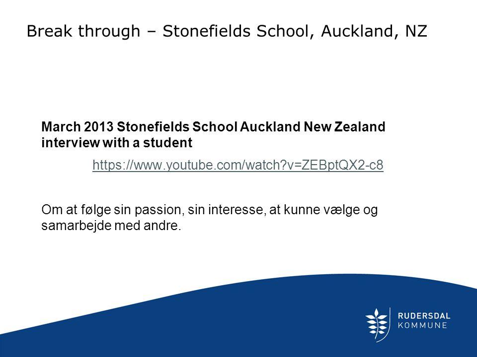 Break through – Stonefields School, Auckland, NZ