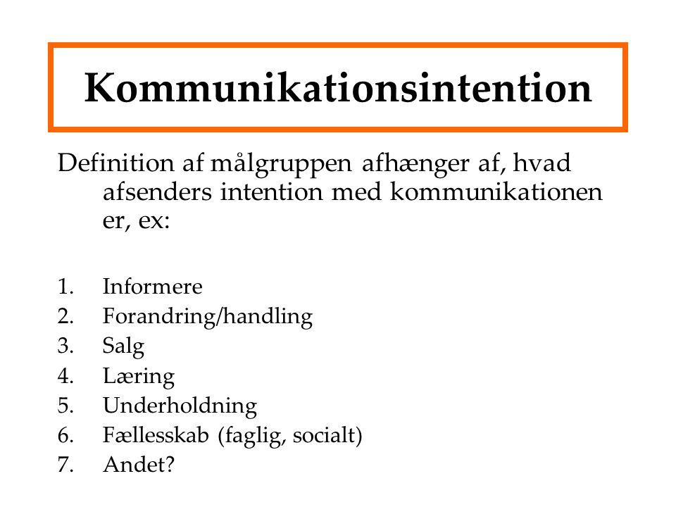 Kommunikationsintention