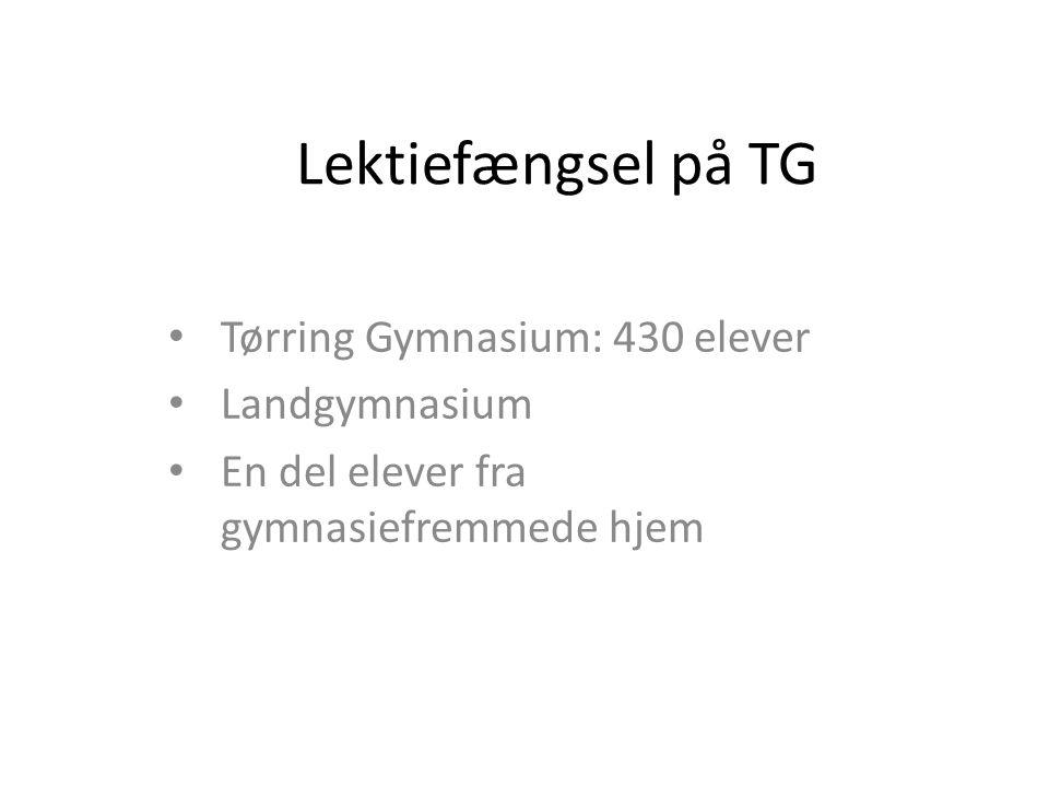 Lektiefængsel på TG Tørring Gymnasium: 430 elever Landgymnasium