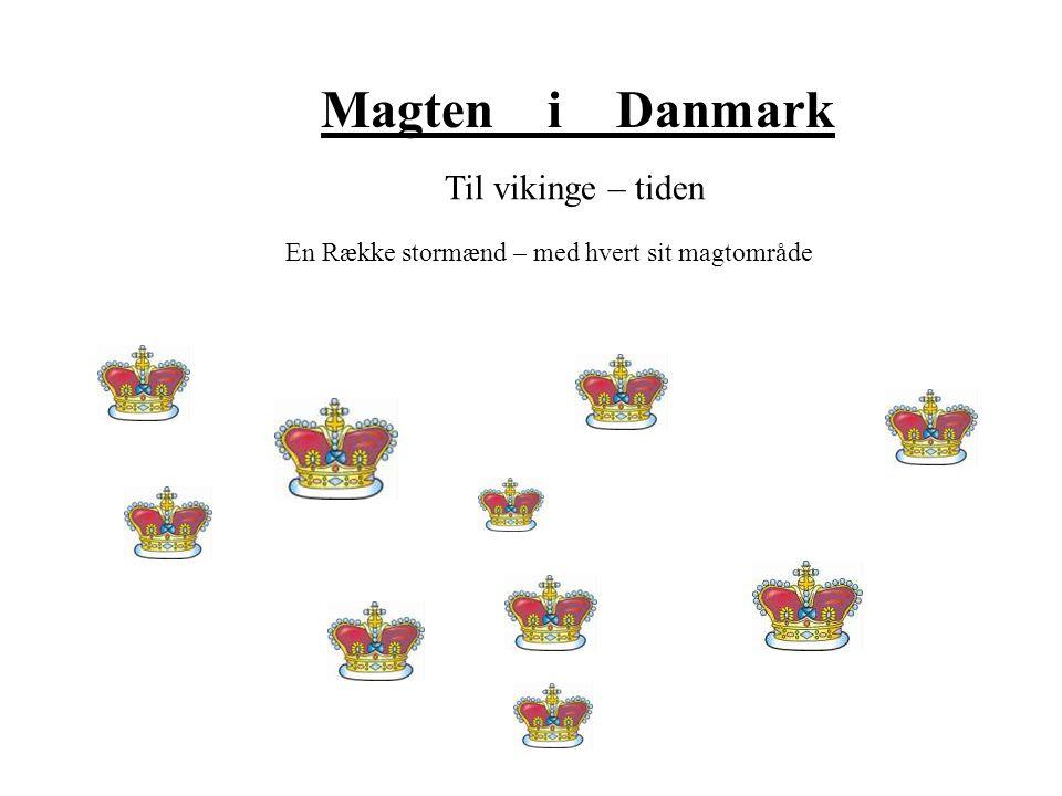 Magten i Danmark Til vikinge – tiden