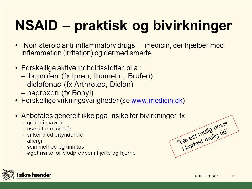 NSAID – praktisk og bivirkninger