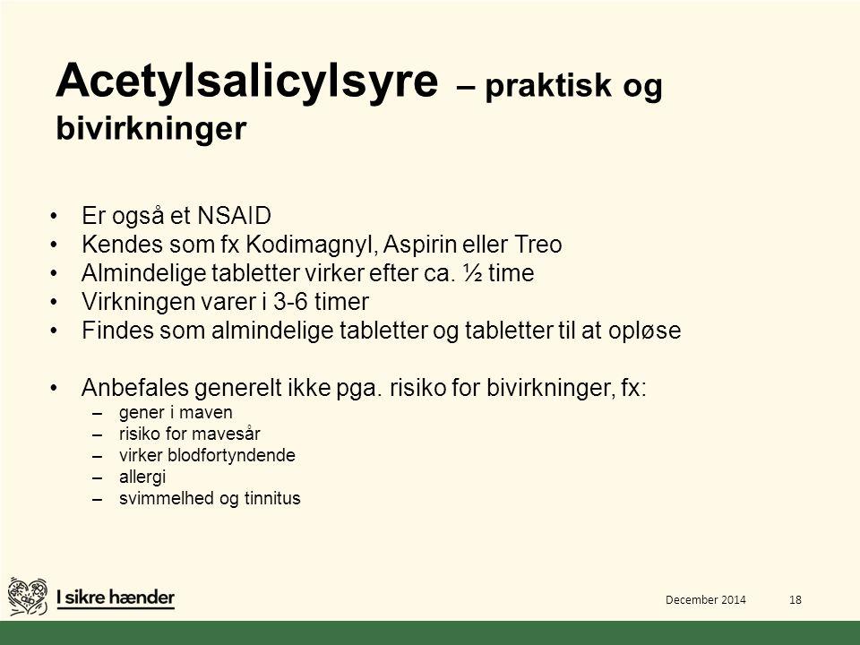 Acetylsalicylsyre – praktisk og bivirkninger