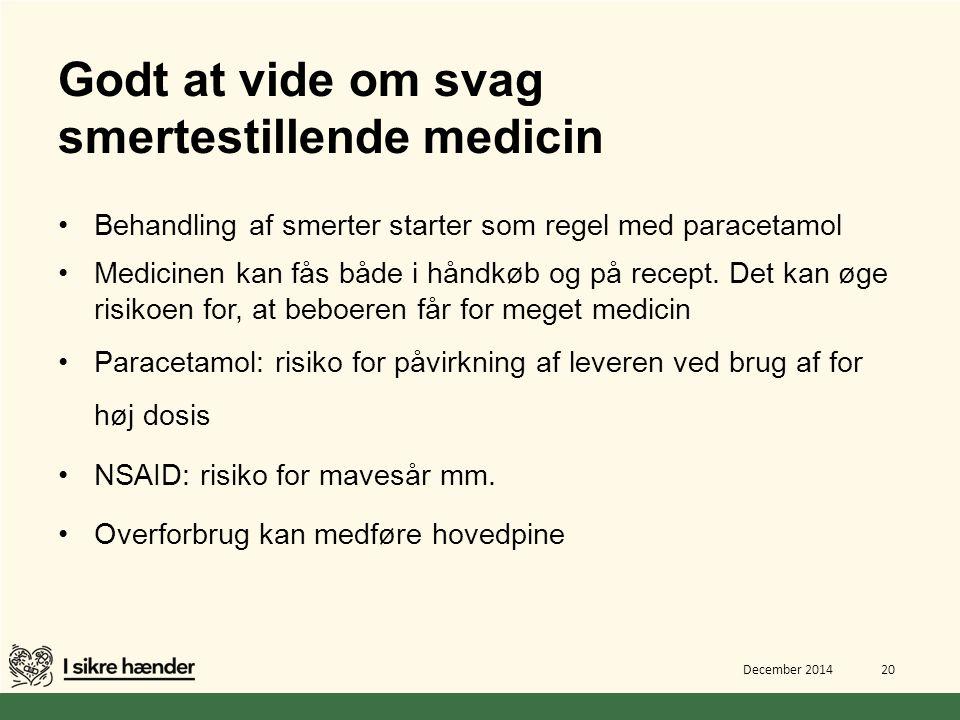 Godt at vide om svag smertestillende medicin