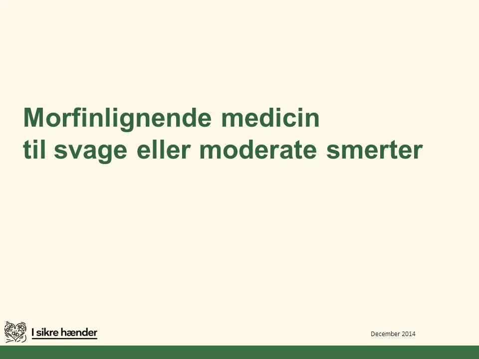 Morfinlignende medicin til svage eller moderate smerter
