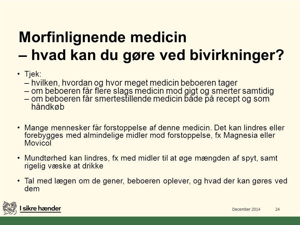 Morfinlignende medicin – hvad kan du gøre ved bivirkninger