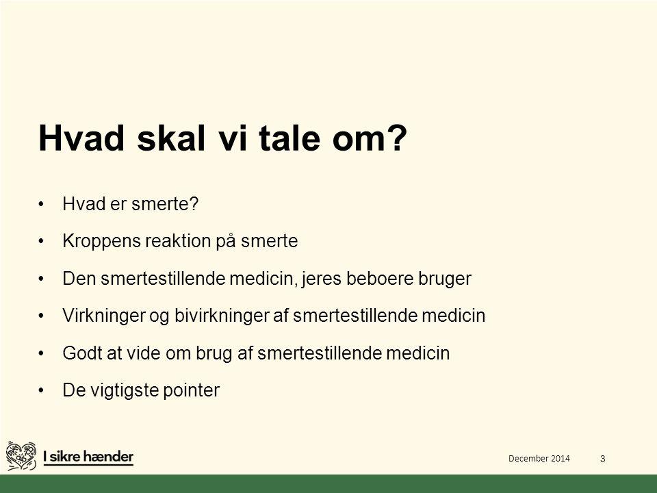 Hvad skal vi tale om Hvad er smerte Kroppens reaktion på smerte