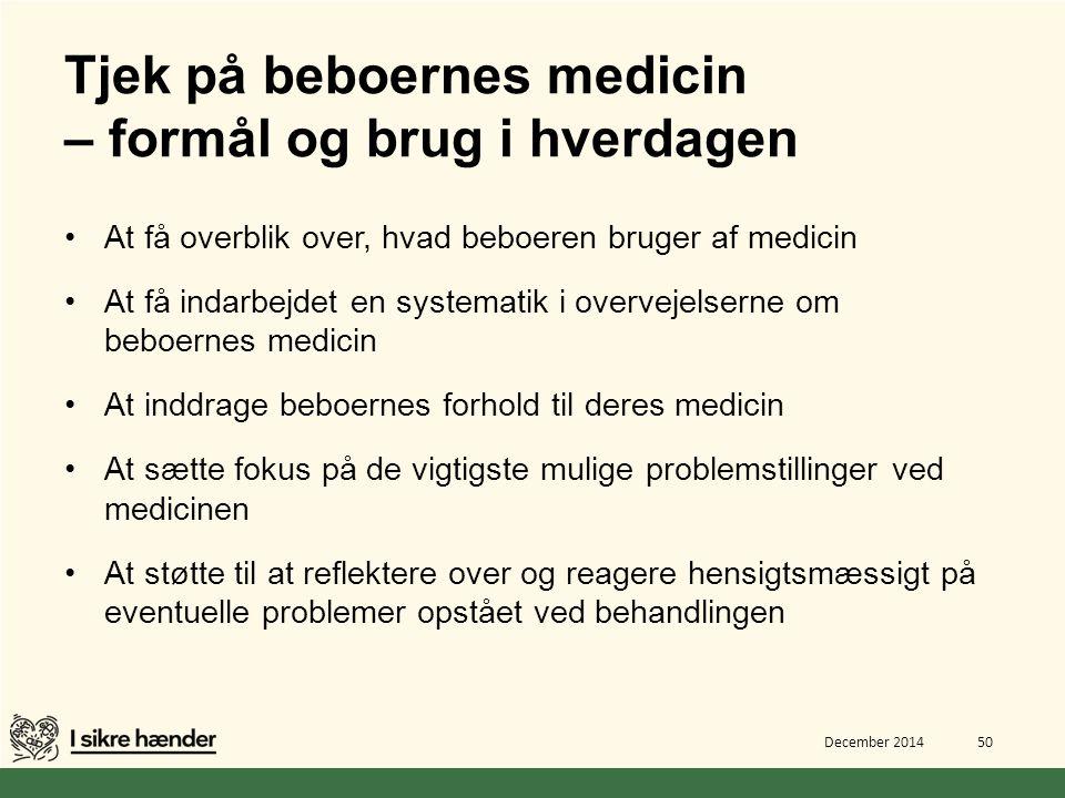 Tjek på beboernes medicin – formål og brug i hverdagen