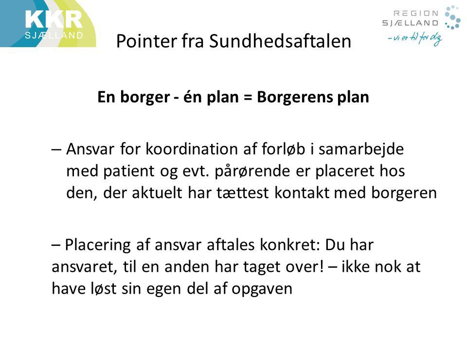Pointer fra Sundhedsaftalen