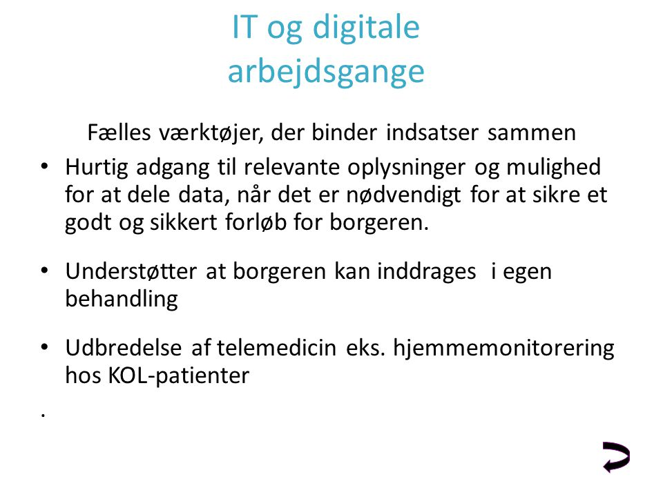 IT og digitale arbejdsgange