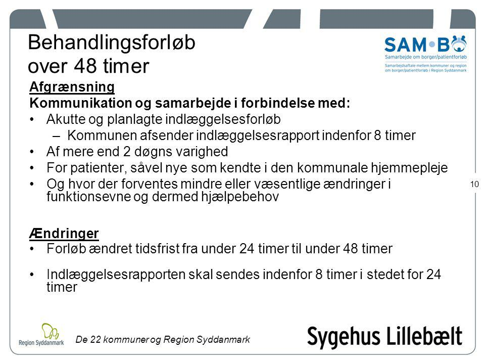 Behandlingsforløb over 48 timer