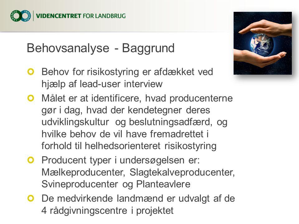 Behovsanalyse - Baggrund