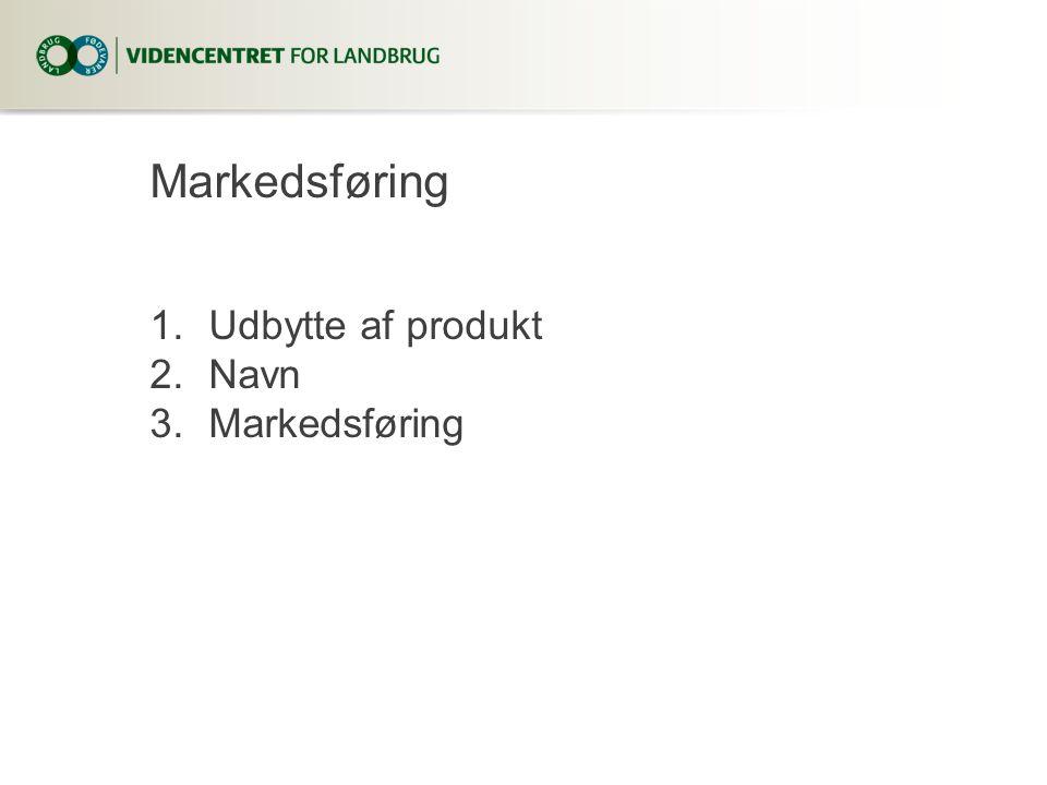 Markedsføring Udbytte af produkt Navn Markedsføring