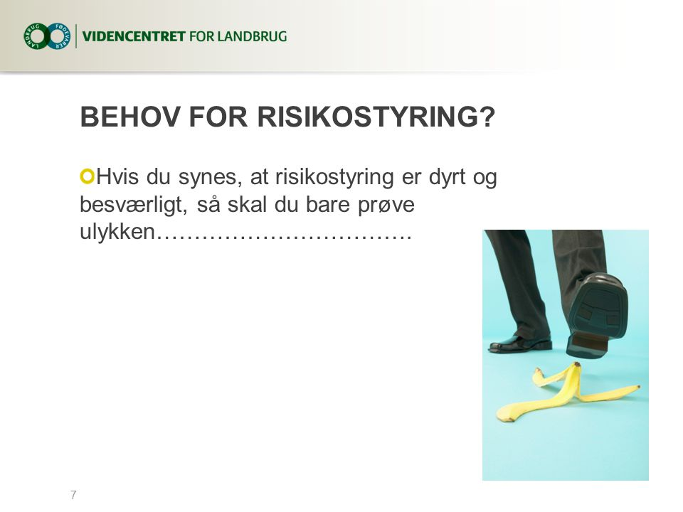 Behov for risikostyring