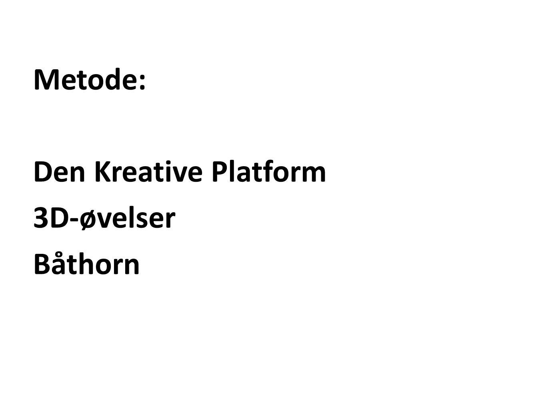 Metode: Den Kreative Platform 3D-øvelser Båthorn