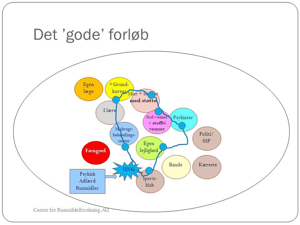 Det 'gode' forløb Egen læge +Grund-kursus Mor + stedfar med støtte
