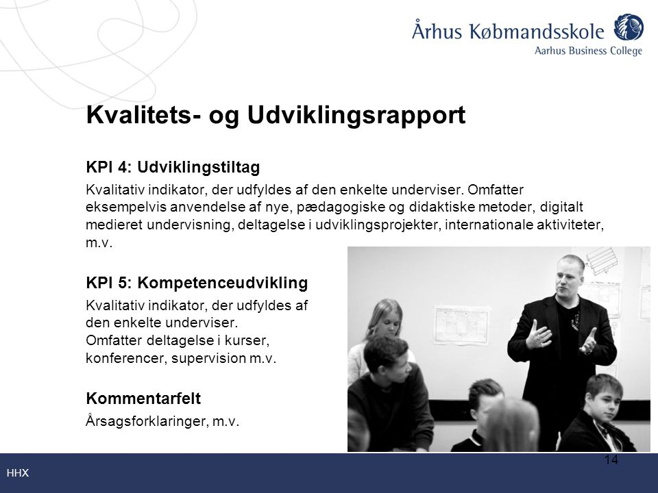 Kvalitets- og Udviklingsrapport