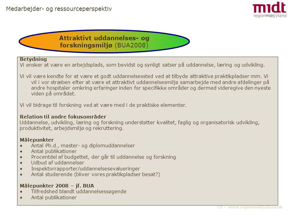 Attraktivt uddannelses- og forskningsmiljø (BUA2008)