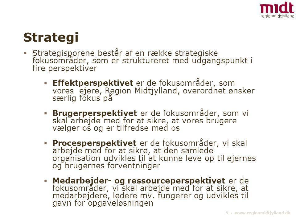 Strategi Strategisporene består af en række strategiske fokusområder, som er struktureret med udgangspunkt i fire perspektiver.