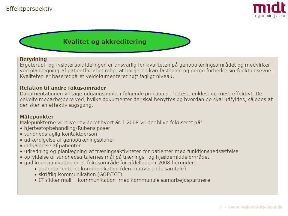 Kvalitet og akkreditering