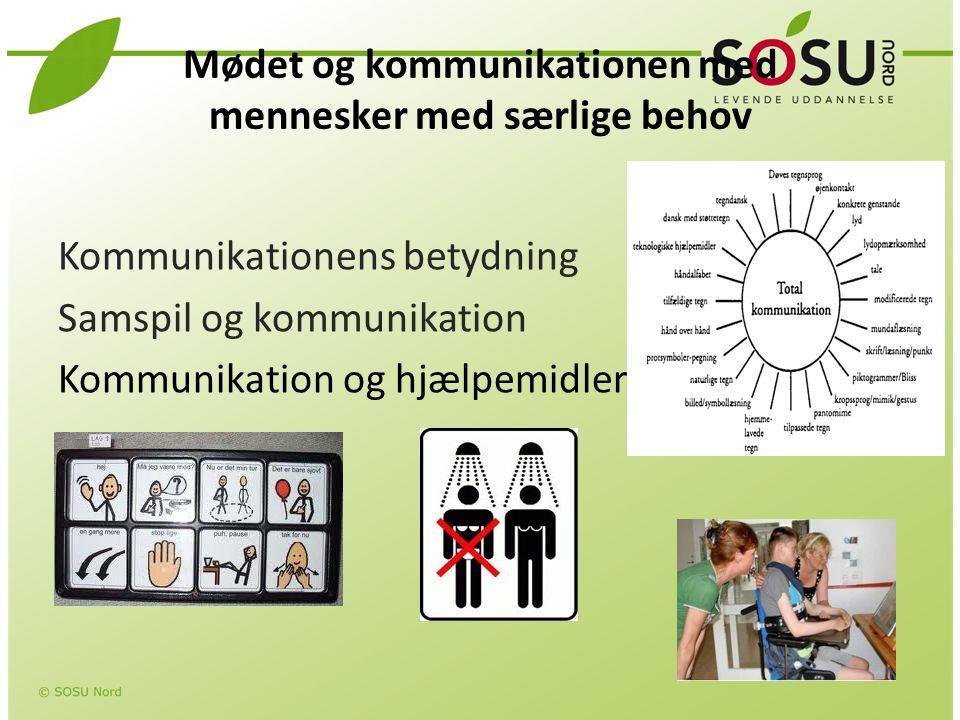 Mødet og kommunikationen med mennesker med særlige behov