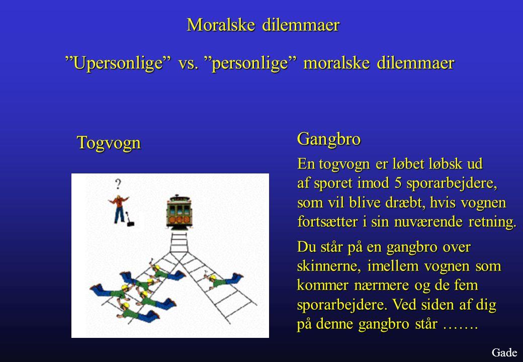 Upersonlige vs. personlige moralske dilemmaer