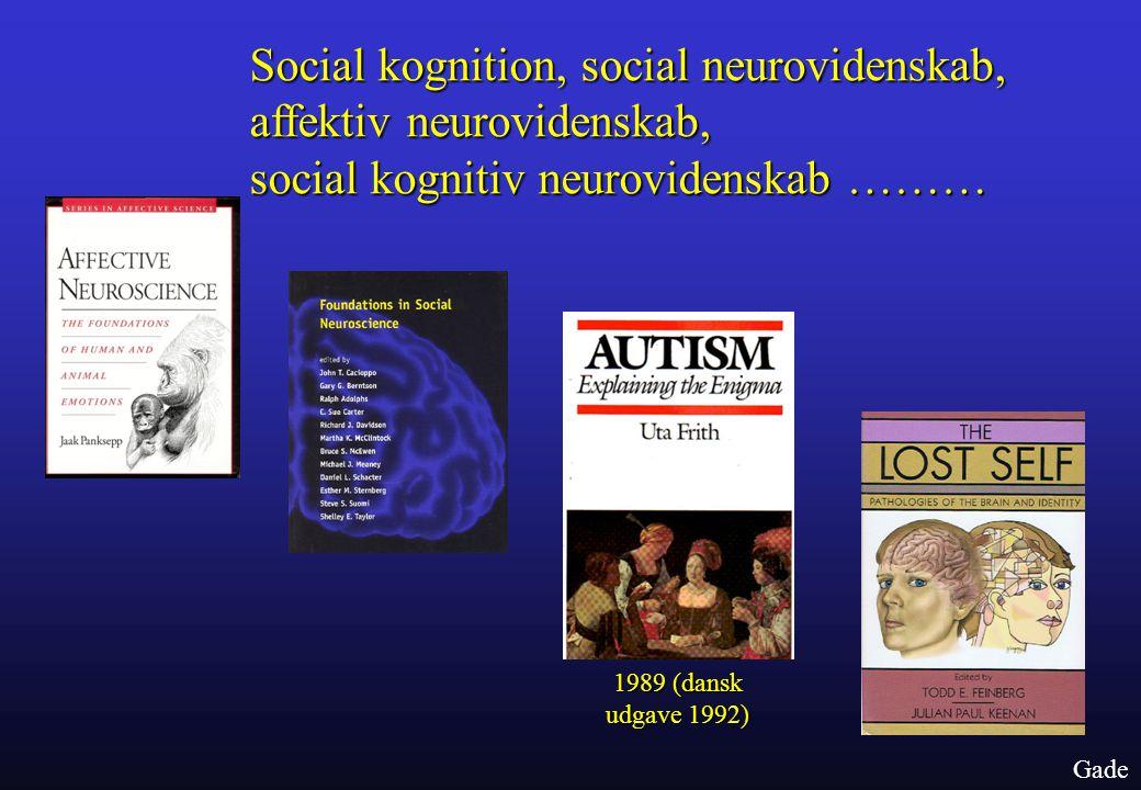 Social kognition, social neurovidenskab, affektiv neurovidenskab, social kognitiv neurovidenskab ………