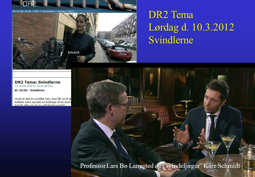 DR2 Tema Lørdag d. 10.3.2012 Svindlerne