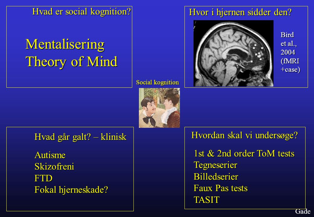 Mentalisering Theory of Mind
