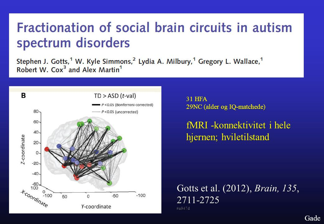 fMRI -konnektivitet i hele hjernen; hviletilstand