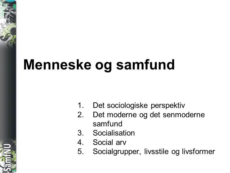 Menneske og samfund Det sociologiske perspektiv