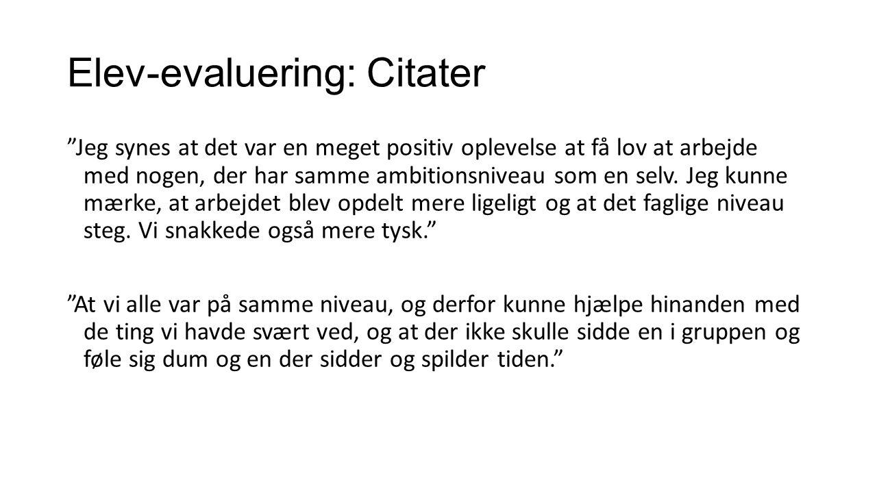 Elev-evaluering: Citater
