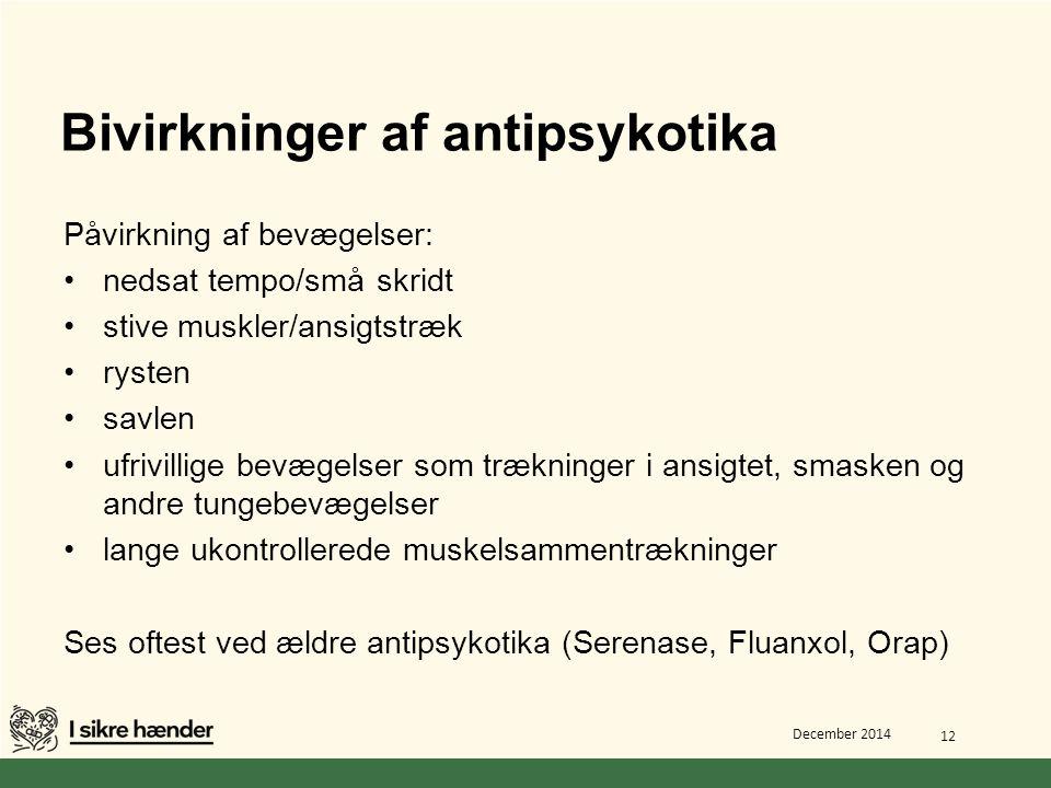 Bivirkninger af antipsykotika