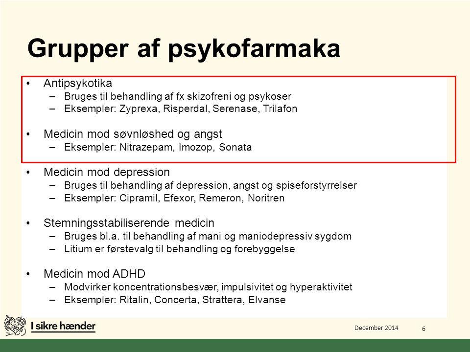 Grupper af psykofarmaka