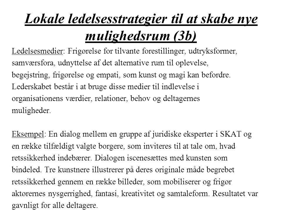 Lokale ledelsesstrategier til at skabe nye mulighedsrum (3b)