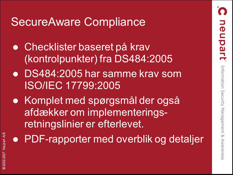 SecureAware Compliance