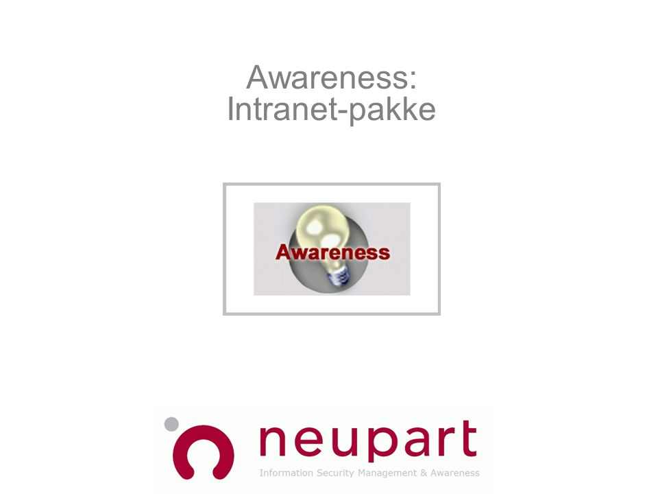 Awareness: Intranet-pakke
