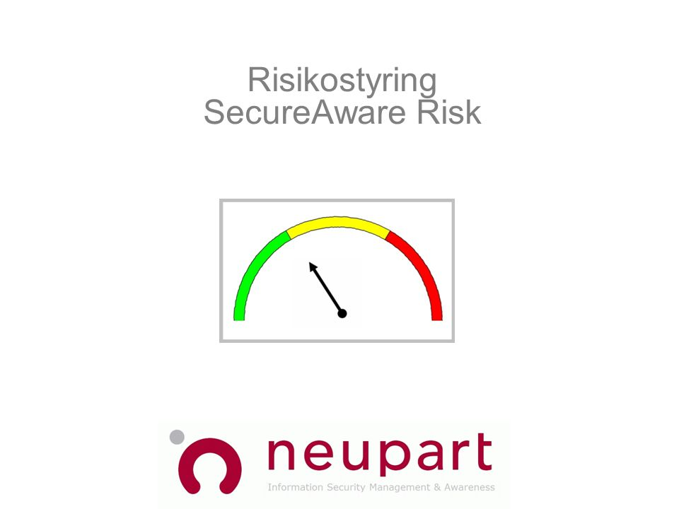 Risikostyring SecureAware Risk