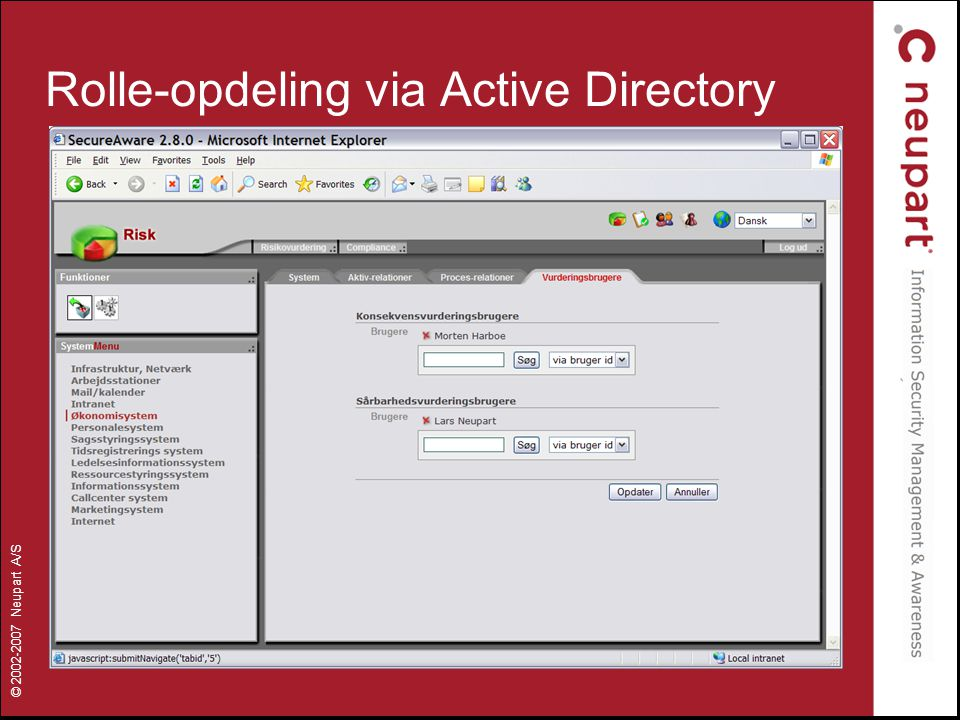Rolle-opdeling via Active Directory